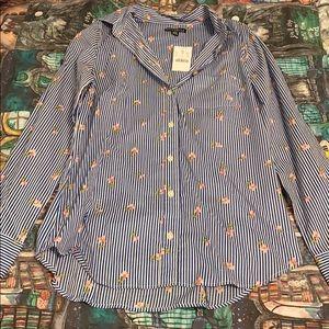 JCrew Flowered Button Up Shirt